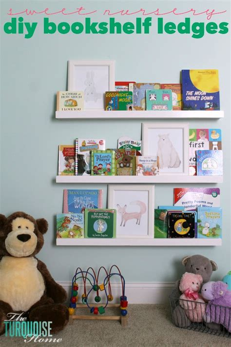 nursery bookshelves diy bookshelf ledges for the nursery the turquoise home