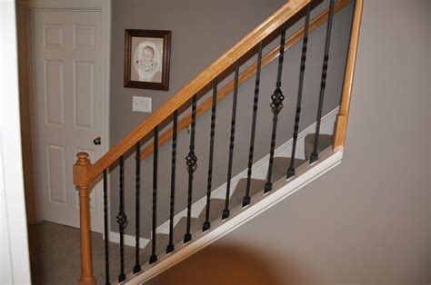 banister baluster iron stair balusters with railing trendy iron stair
