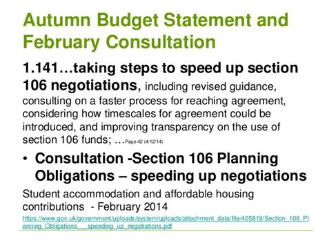 section 106 consultation gilian macinnes pas s106 where we are current context