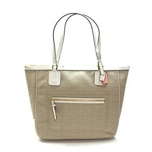 Handbag Of The Week Signature Oxford Tote by Coach Poppy Signature Oxford Tote Bag Ivory 25078 Coach