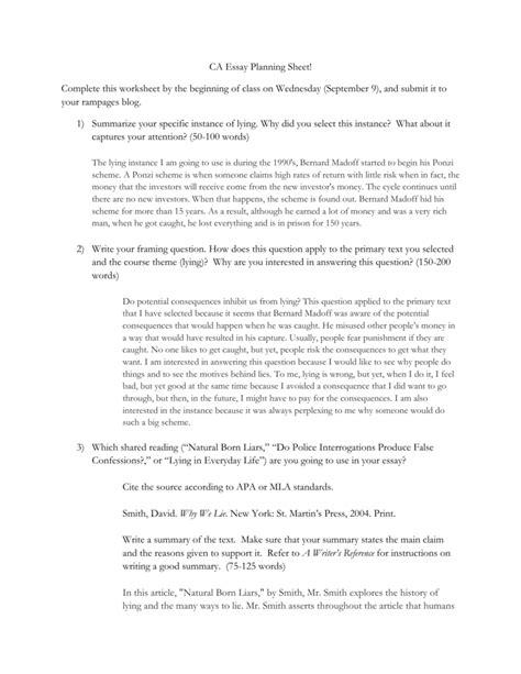 The Ways We Lie Essay by The Ways We Lie Essay Questions 2012 Casae Proceedings Ayucar