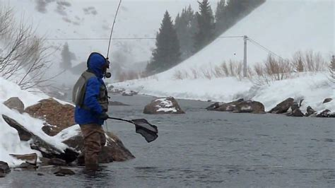 fishing boat in storm video taylor river fly fishing in snow storm 2010 mov youtube