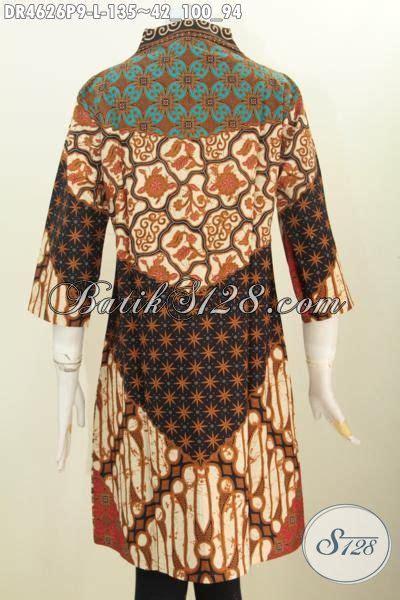 Sx6szgzb77 Dress Motif Etnik Size M Dan Size L pakaian dress batik modern desain berkelas motif sinaran