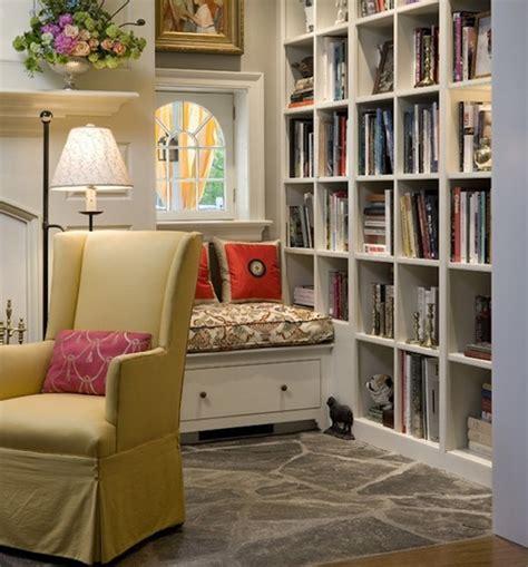 Great Room Furniture Placement - reading nook essentials modern literary storage ideas