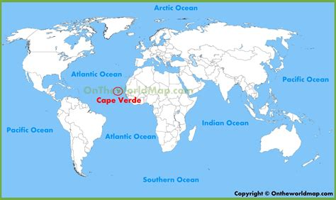 cape verde on a world map cape verde location map