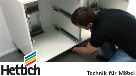 schubladen einzug easys by hettich assembly inside a drawer cabinet