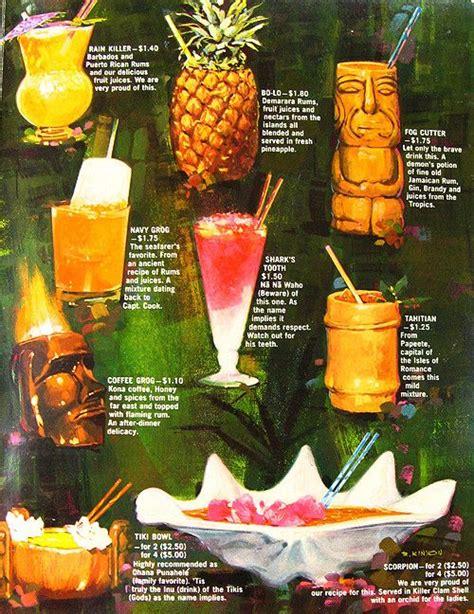 Tiki Bar Cocktails Tiki Cocktail Menu So Cheap Vintage Paradise Decor