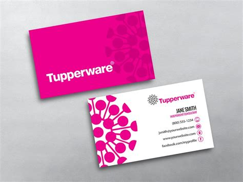 now card template tupperware business cards free shipping