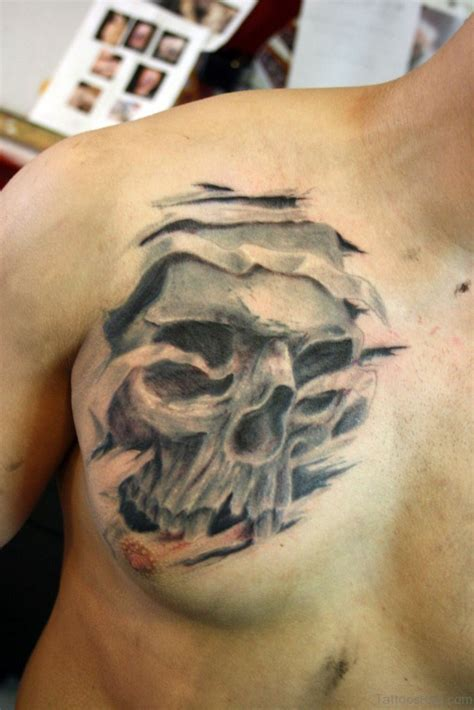 tattoo chest skull 70 stunning skull tattoos on chest