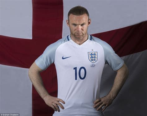 english captain wayne rooney ready for russia england captain wears embroidered home kit ahead of three lions