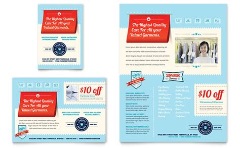 flyer design services laundry services flyer ad template design