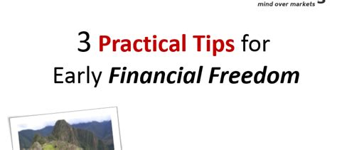 the of financial freedom step by step practical guide to achieve financial freedom escape the 9 5 your travel more be free and finally attain the 4 hour workweek lifestyle books 3 practical tips for early financial freedom synapse trading
