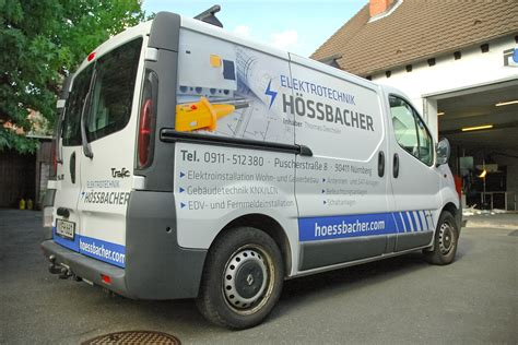 Fahrzeugbeschriftung Elektro by Flottenbeklebung Elektro H 246 Ssbacher Werbeagentur Focus
