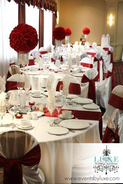 17 best Burgundy and White Wedding Decor images on Pinterest