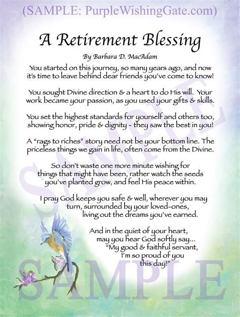 A Retirement Blessing: Framed & Personalized Gifts