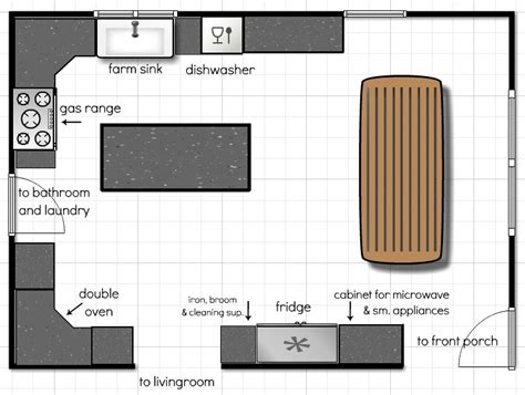 Ditch Door House Floor Plan - kitchen floor plans