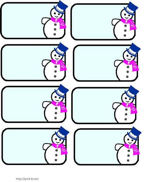 preschool name tag templates snowman name tags winter preschool lesson ideas