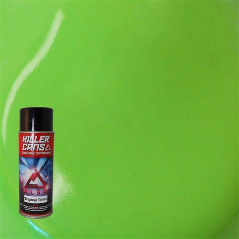 alsa refinish 12 oz tropical tones lime green killer cans spray paint kc tt 10 the home depot