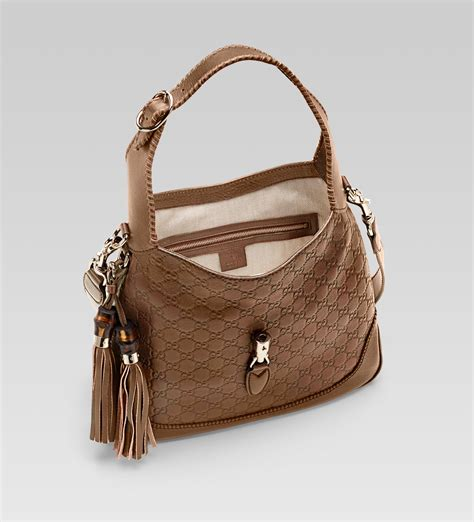Gucci Handbag by Gucci New Jackie Light Brown Guccissima Leather Shoulder