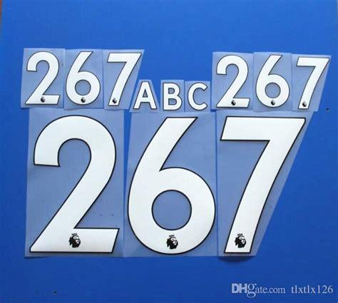 Custom Font Nameset Manchester United 2017 2018 2017 2018 premier league customize name a z number