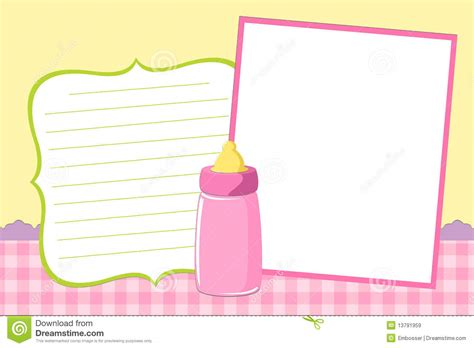 template for baby s photo album royalty free stock images