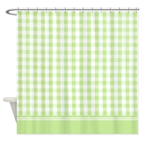 gingham shower curtain green gingham shower curtain by inspirationzstore