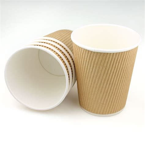 A Paper Cup - brown 8oz ripple paper cups pipii
