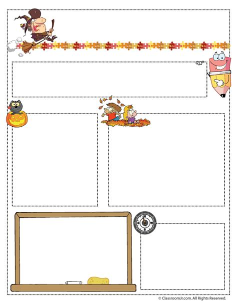 october preschool newsletter template 20 best classroom newsletter templates studentschillout
