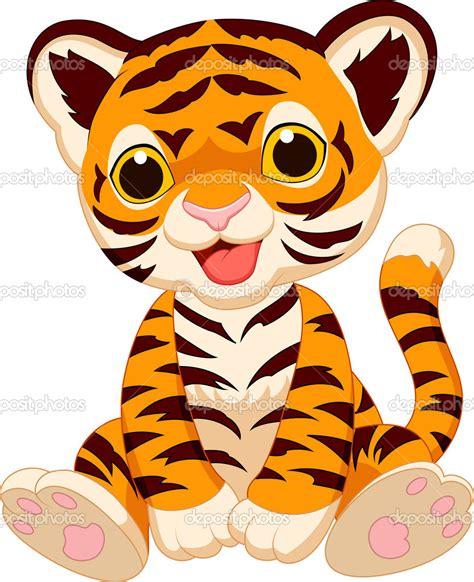 imagenes de tigres kawaii caricatura lindo beb 233 tigre vector stock 169 tigatelu