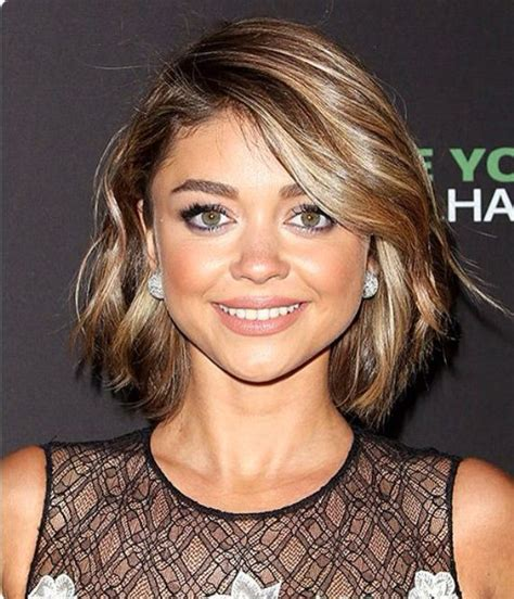 above the shoulder bob short bob above the shoulder hair cut dark brown with