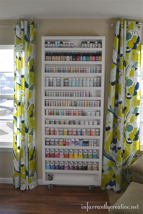Paint Shelf by Storage Solution Up Craft Paints Craft Storage Ideas