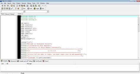 membuat virus dengan dev c belajar bahasa c dengan menggunakan dev c script log in