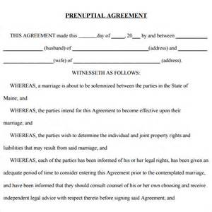 Prenuptial Agreements Templates by Free Prenuptial Agreements Templates Free