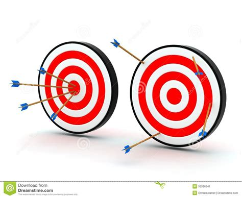 Lost Gift Card Target - arrows on target off target stock illustration image 55526641