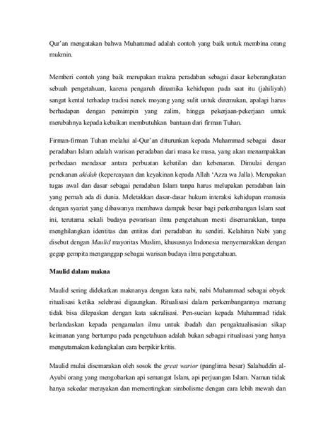 Humanisme Dalam Islam Marcel A Boisard maulid nabi sebagai peradaban islam