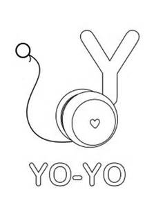 Learning YoYo For Letter Y Coloring Page  Bulk Color sketch template