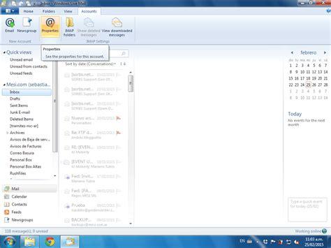 windows 10 live mail tutorial cuentas de correo en windows live mail tutoriales mesi