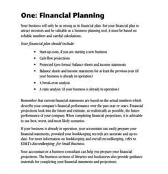 financial plan template for business plan sle financial business plan 5 documents in pdf