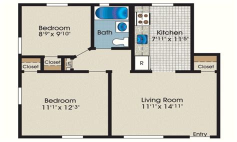 average square footage of a 1 bedroom apartment