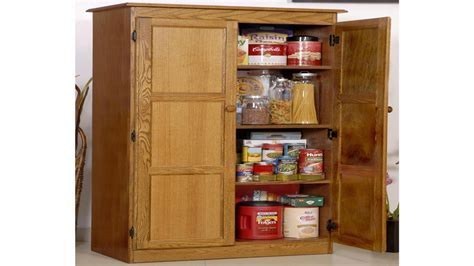 Wooden shelves with doors, wood storage cabinets with