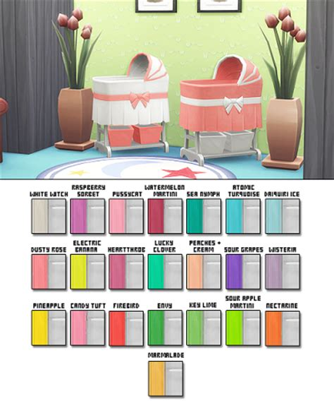 Hello Kitty Toddler Bedroom Set my sims 4 blog bassinet recolors by plumbobbles