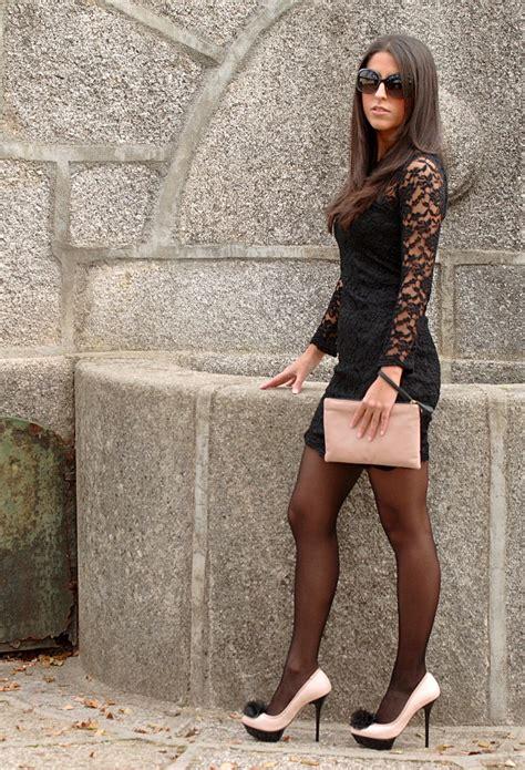 high heels dress fashion tights skirt dress heels seductive