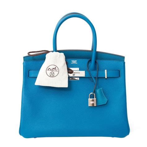 Tas Hermess Birkin Clemence 30cm Best Seller herm 232 s birkin 30cm epsom blue izmir for sale at 1stdibs