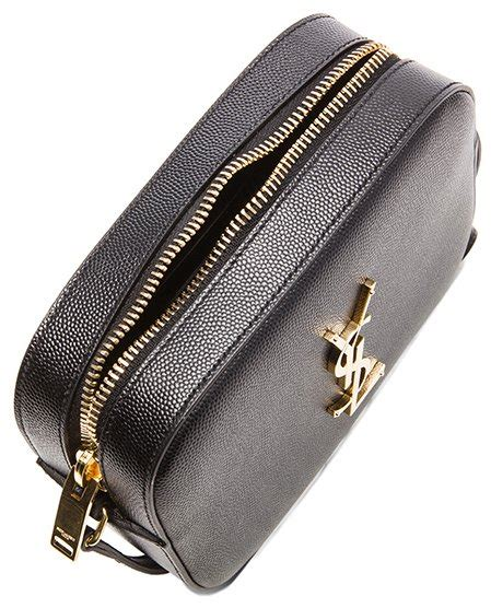 classic small monogram saint laurent camera bag  black
