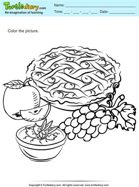 coloring pages for thanksgiving feast thanksgiving feast coloring sheet turtle diary