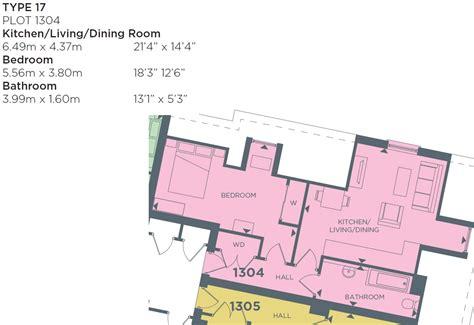 Redrow Oxford Floor Plan Plot 1304 Monarch 1 Bedroom Apartment Type 17 Regent S