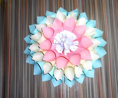 A Flower Out Of Paper - how to make a flower out of paper all
