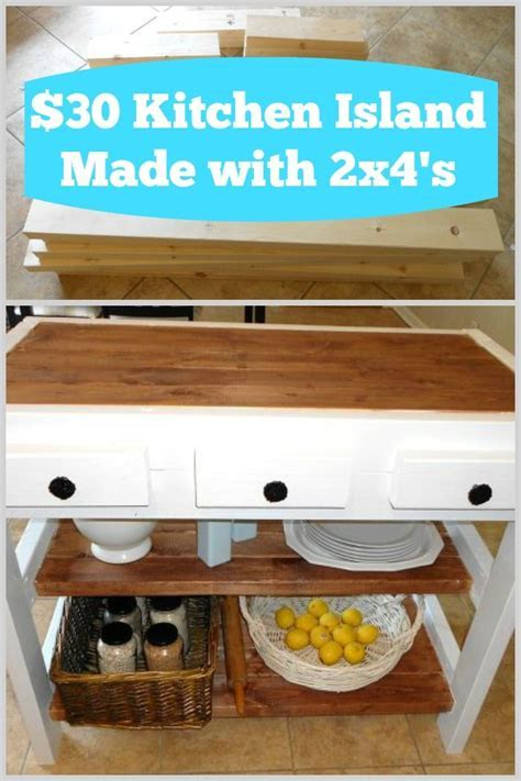 DIY $30 Kitchen Island Made With 2x4s   Islands, The o
