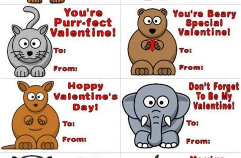 printable animal quotes valentines day cards for kids crafts cute animals quotes