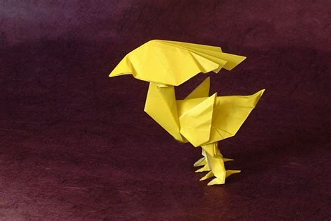 Origami Chocobo - the yellow bird chocobo satoshi kamiya gilad s origami